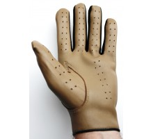 100% Leather Soft Gloves - Light brown