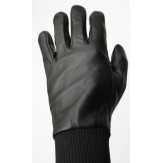 100% Leather Soft Gloves - Black