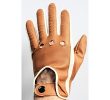 100% Leather Soft Gloves - brown