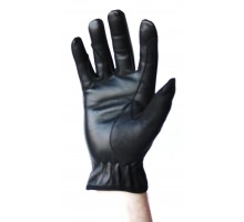 100% Leather Gloves - Black